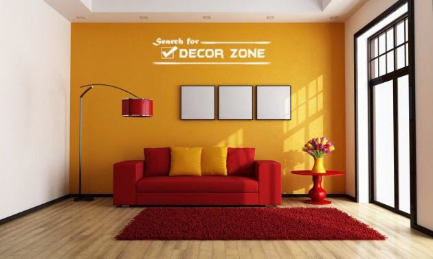 Popular Wall Paint Colors Orange In White Living Room