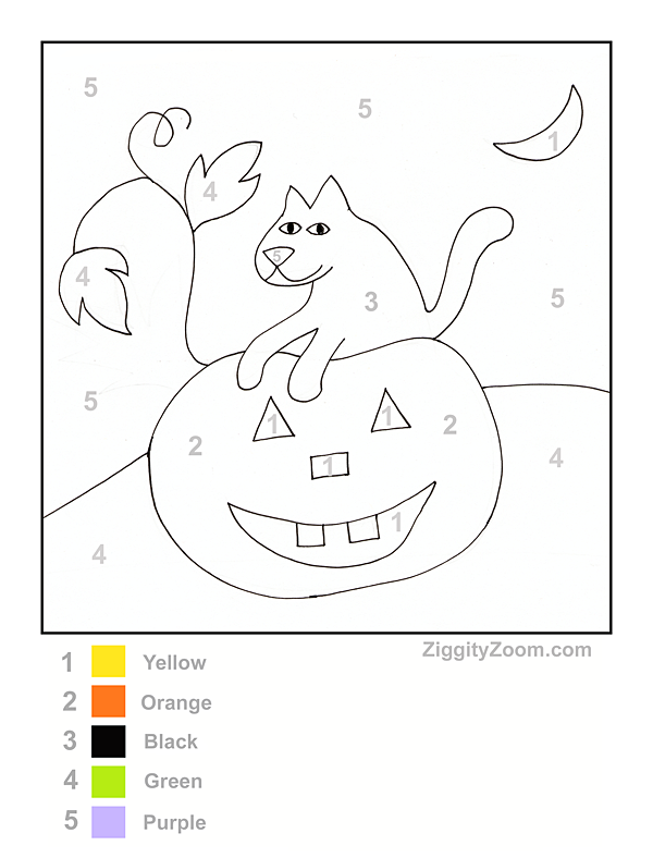 Halloween Pumpkin Color By Number Printable