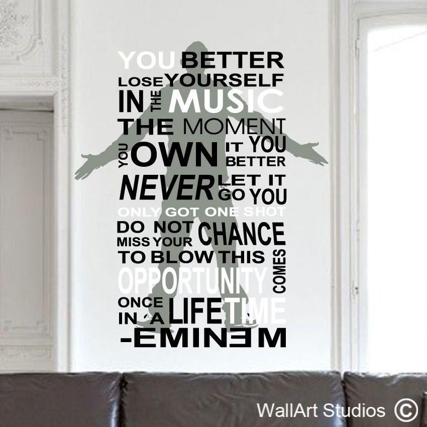 Wallart Studios Eminem Quotes Sticker Wall Art Eminem