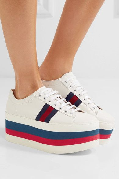 Gucci - Leather platform sneakers