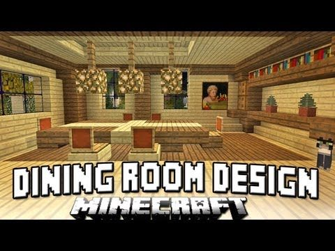 Minecraft Tutorial How To Build A House Part 13 Dining Room Chairs And Table Design