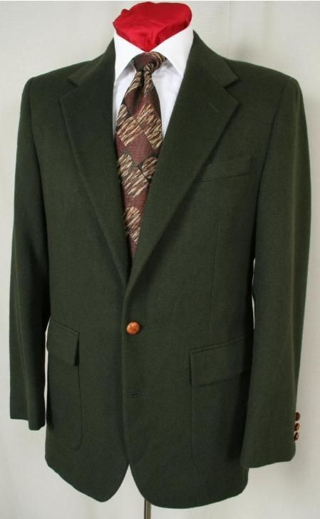Product 1827 Hunter Green Antique Brass Crest Buttons Blazer Online