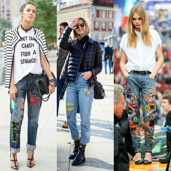 Patches nas calças jeans https://analumeireles.wordpress.com/2016/06/21/febrefashion-patches/
