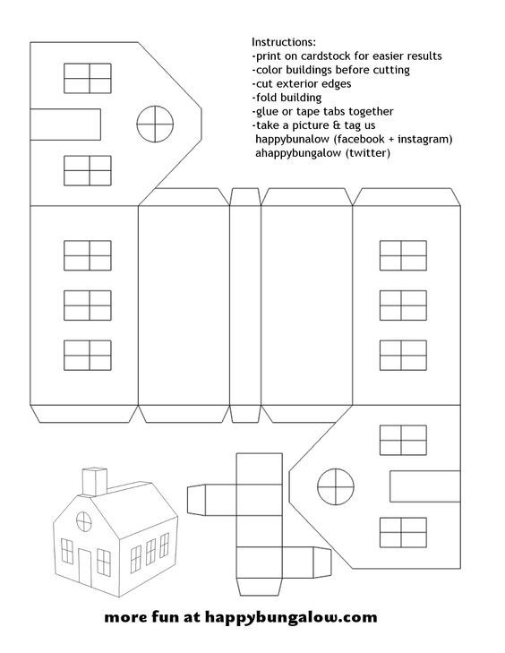 glitter houses christmas village - Google Search Mimi Cardboard - christmas paper template