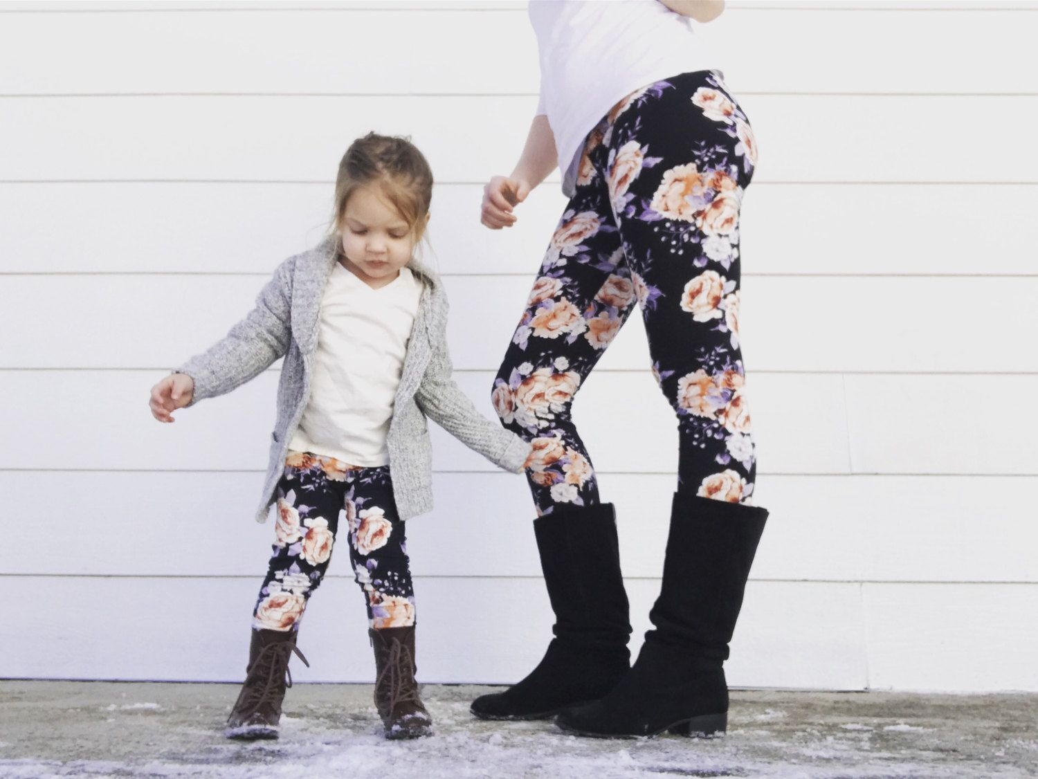 Premium Soft Breatheable Matching Mother Daughter Leggings Set Just Like Me