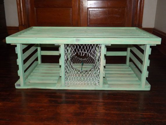 lobster trap table side table coffee table vintage handcrafted