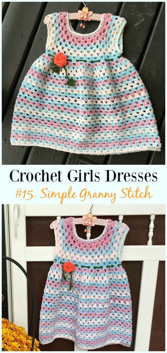 Summer Girl Dress Free Crochet Patterns Crochet And Knitting