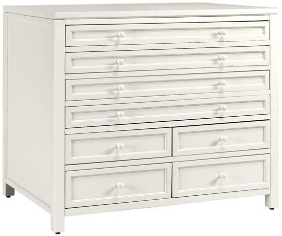 Martha Stewart Living™ Craft Space Eight Drawer Flat File Cabinet A Work  Surface