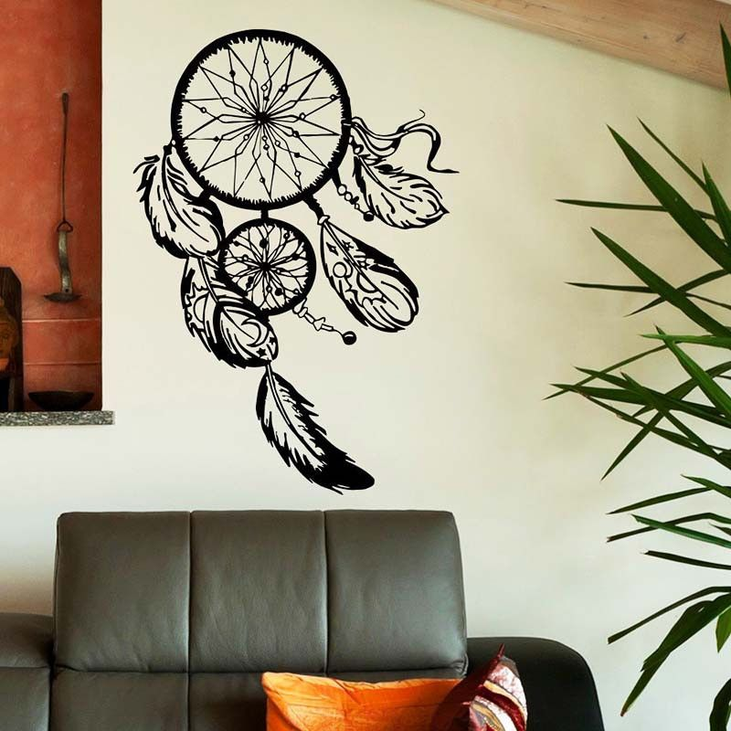 black dream catcher dreamcatcher wall sticker home decor | products