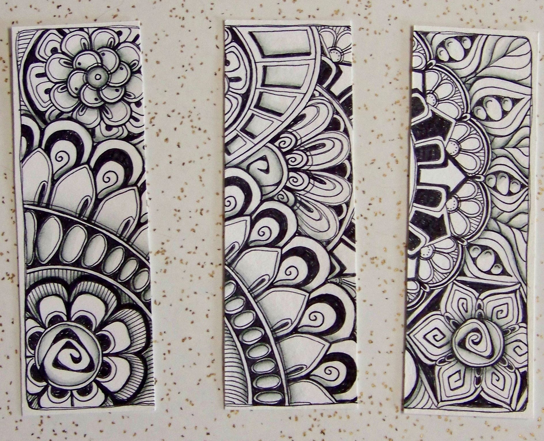 Tangled bookmarks separated | Zentangle | Pinterest | Lesezeichen ...