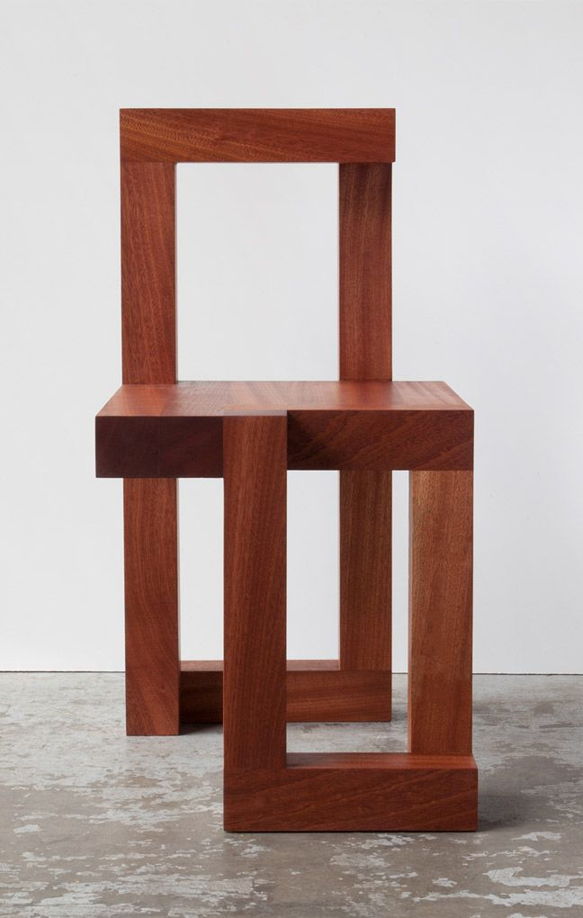 Richard Lowry   Sapele Brut Coffee Table And Chair. Limited Edition  Collectable Brutalist Furniture Design.