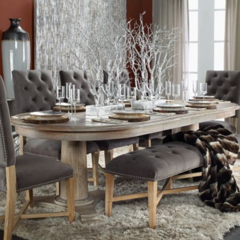 Explore Dining Room Furniture Chairs And More Rencourt Tufted Bench