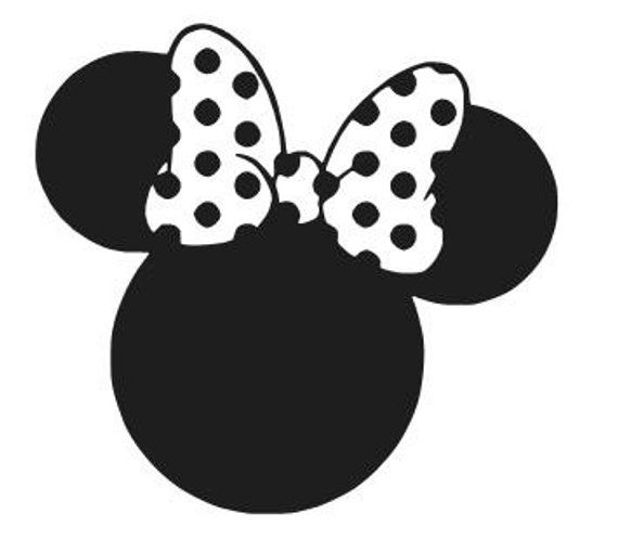 MINNIE MOUSE EARS Vinyl Decal Sticker Car Window Laptop Wall Choose Color