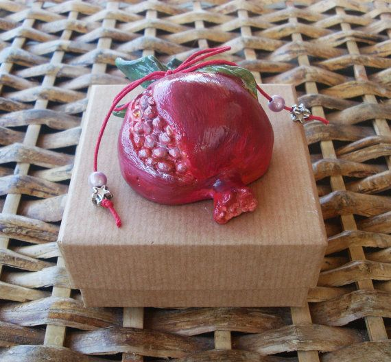 POMEGRANATE  Ceramic  Home Decor by allabouthandicraft on Etsy