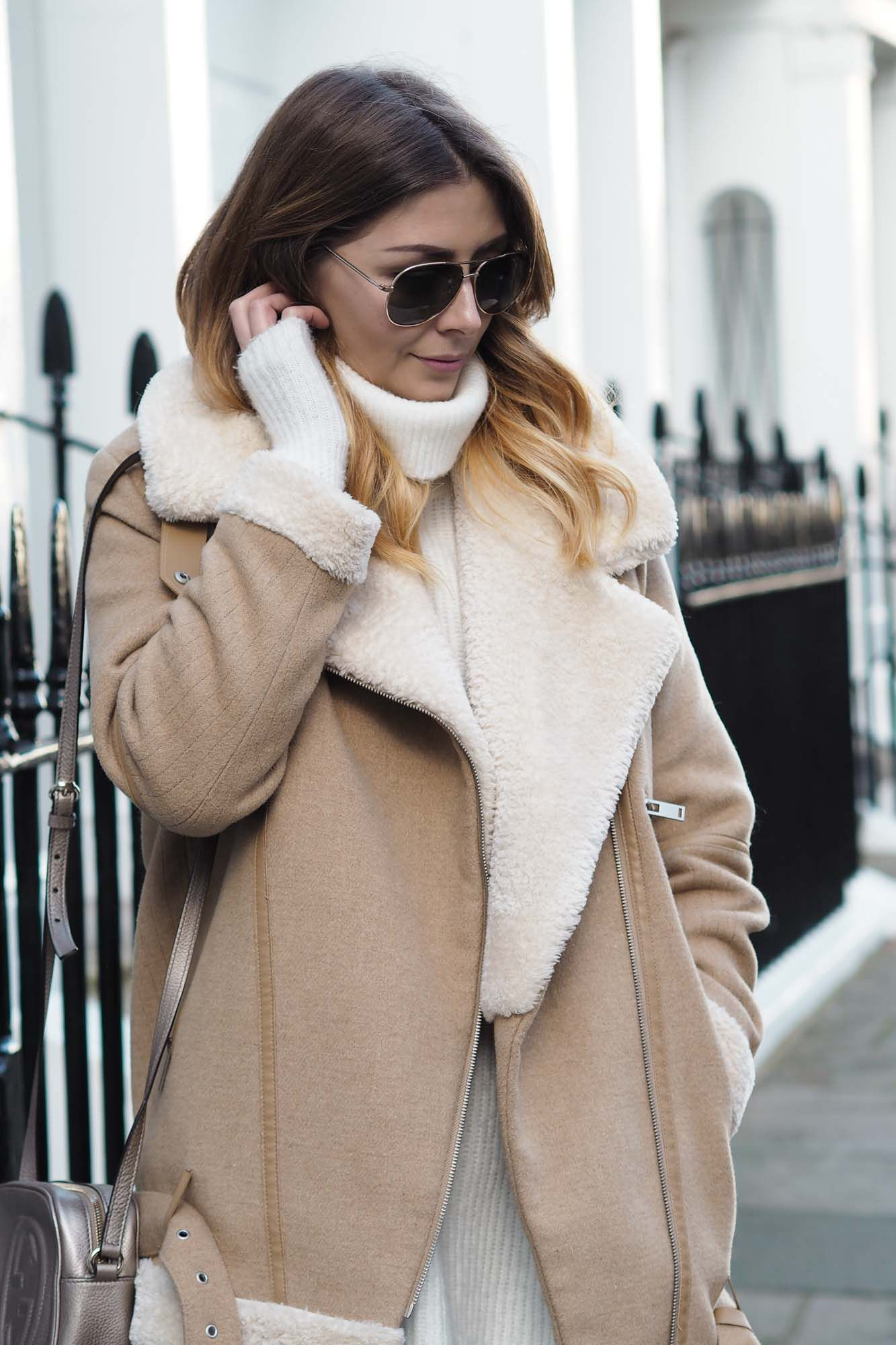 The shearling aviator jacket is an absolute wardrobe must
