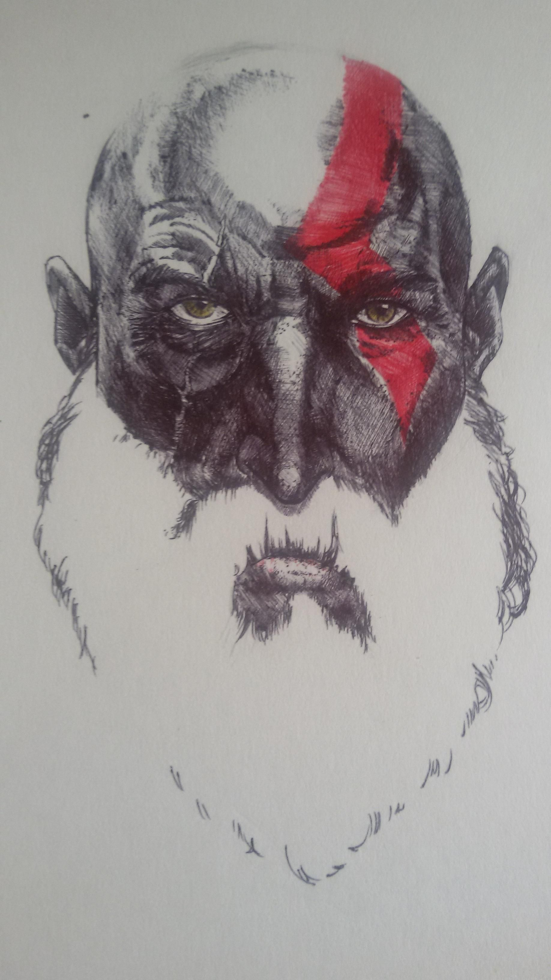 Tried to draw Kratos from the new GodofWar then made a sudden realization where it's heading. - http://ift.tt/2akUfJI