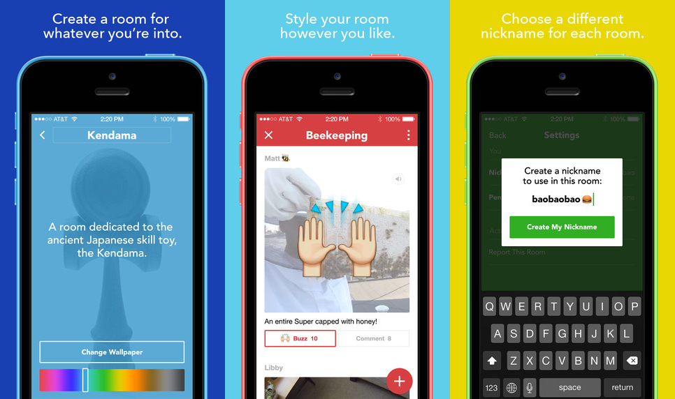 Facebook embraces anonymity with rooms Im app