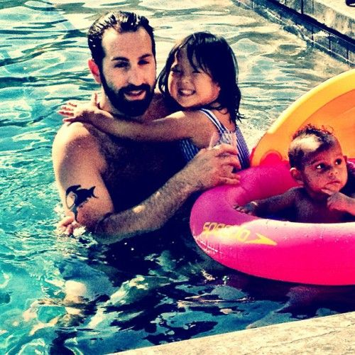 Katherine Heigl and her husband Josh Kelley celebrate the 4th of July with their daughters Naleigh and Adalaide on July 4, 2013