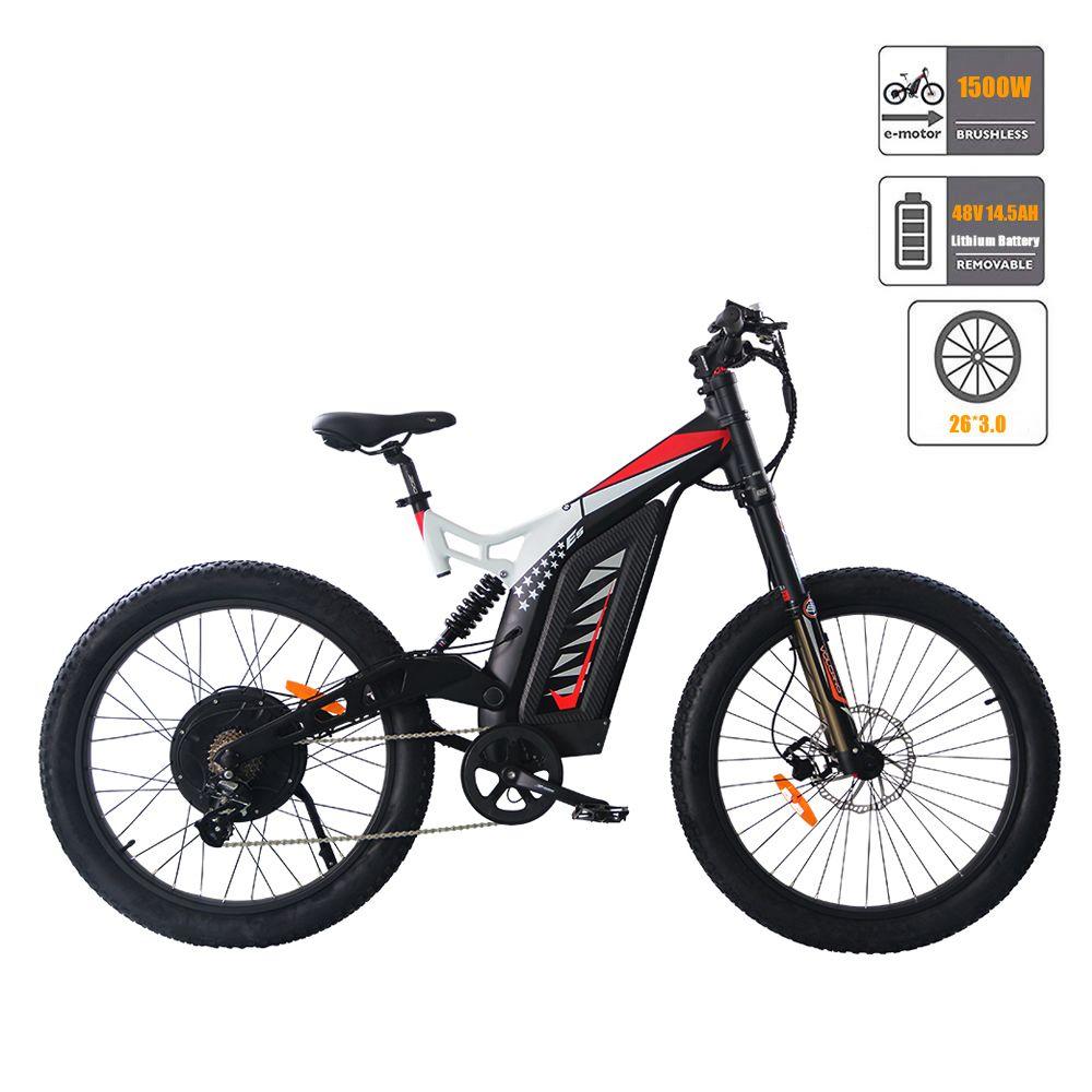Aostirmotor Electric Mountain Bike 1500w 48v 14 5ah Ebike 26 3 Inch Ebike Electric Bicycle For Adults S17 1500w Electric Bike Bike Electric Mountain Bike