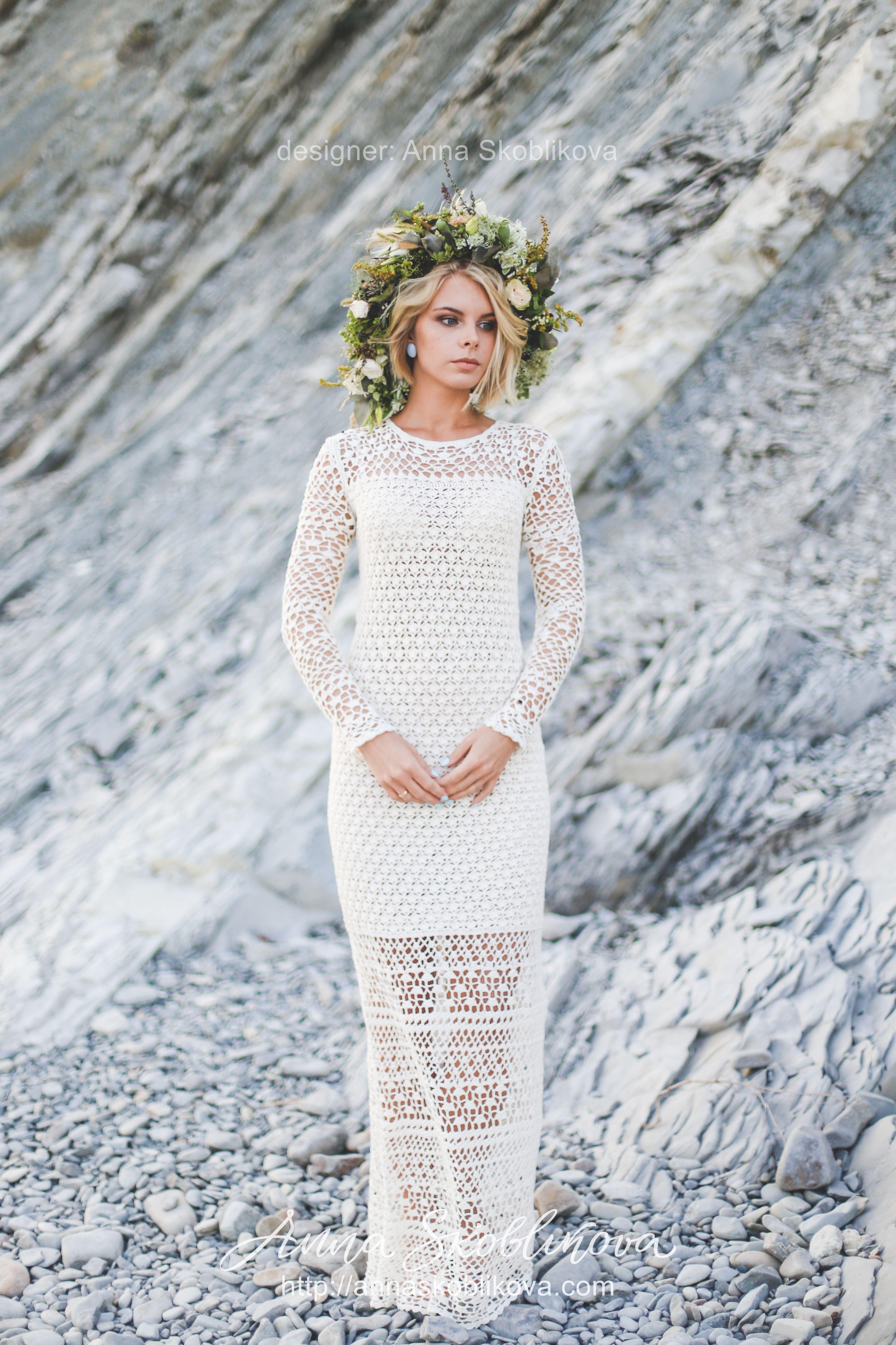 Comfy Rustic Knit Wedding Dress