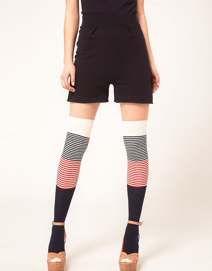38cb8fd4e Happy Socks Over The Knee Color Block Socks