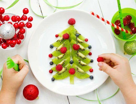 Vrolijke kerstrecepten voor kinderen voorgerecht hoofdgerecht