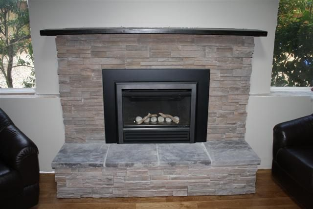 gas fireplace insert before and after makeover yahoo image