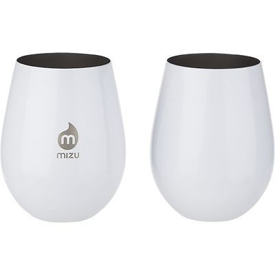 Camping Cooking Utensils 87133: Mizu Wine Cup Set Glossy White One Size -> BUY IT NOW ONLY: $33.95 on eBay!