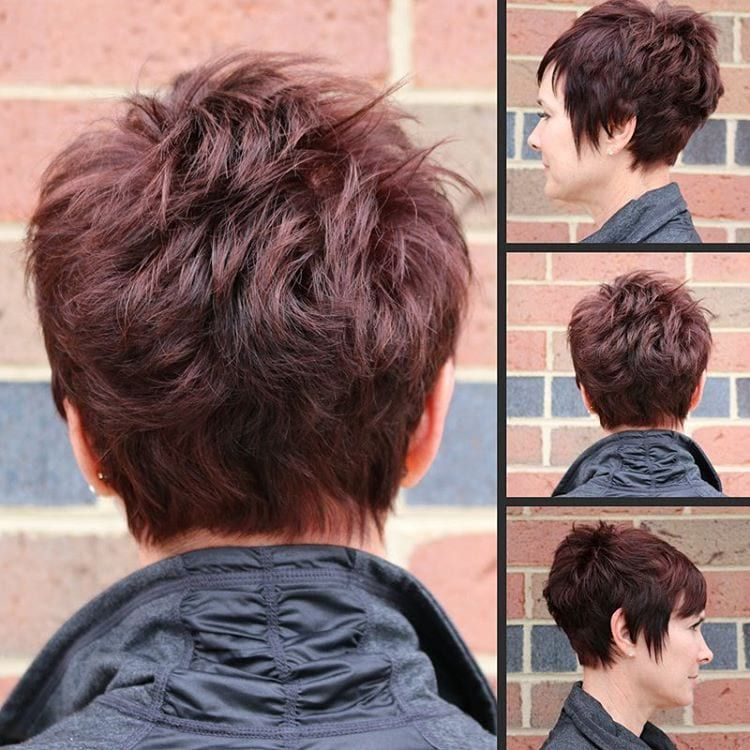 Red Choppy Pixie Undercut Hair Stylin Pinterest Short Hair