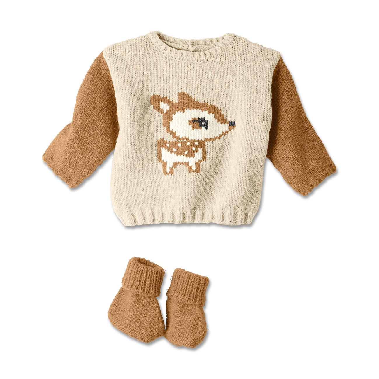 Modell 319/4, Babypullover und Schühchen aus Phil Soft+ von phildar