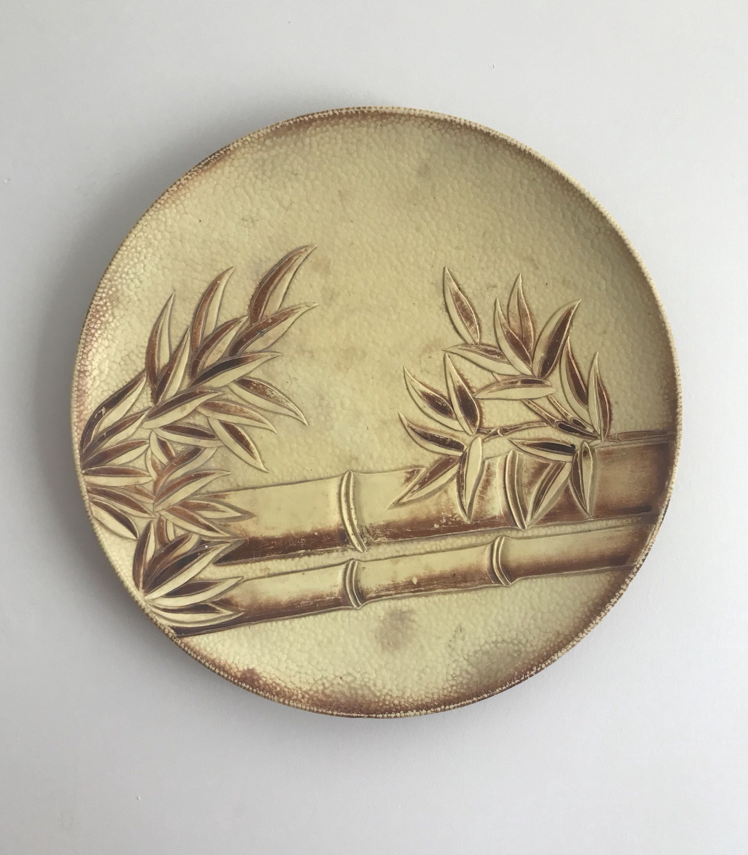 Beautiful Vintage Bamboo Wall Plate or Bowl / 80s / Boho Decor ...