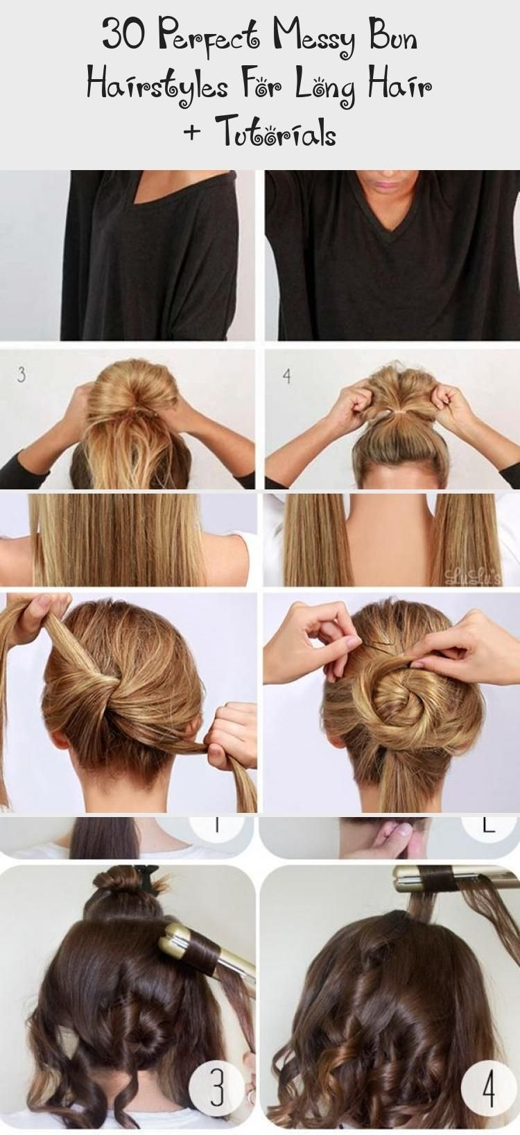 30 Perfect Messy Bun Hairstyles For Long Hair Tutorials Hair Styles 30 Perfect Mess In 2020 Messy Bun Hairstyles Bun Hairstyles For Long Hair Long Hair Tutorial