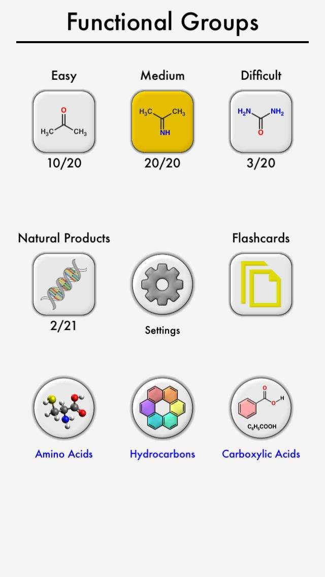 iPhone App Functional Groups in Organic Chemistry