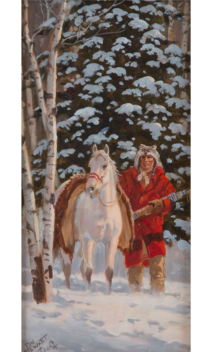 "Western Artist: Ron Stewart, ""Silent Suspecion"", Oil Painting on Board, Signed lower left hand corner. #741 by CulturalPatina on Etsy https://www.etsy.com/listing/228510126/western-artist-ron-stewart-silent"