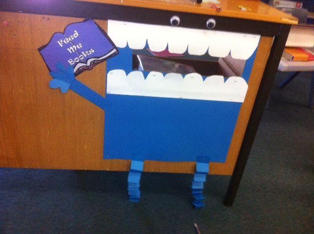 my book monster book return | Dynamic school library Ideas ...