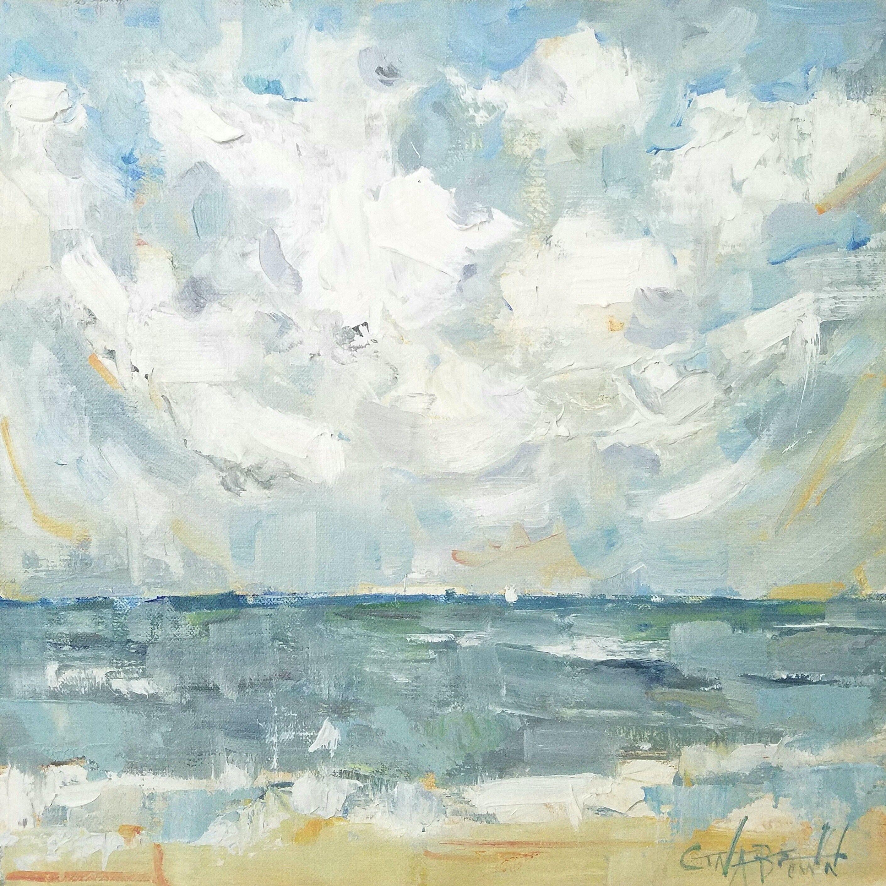 Ocean Soft Soothing Colors Of The Ocean Oil Painting Impressionistic Painting Painting Of Ocean By A Oil Painting Landscape Ocean Painting Seascapes Art