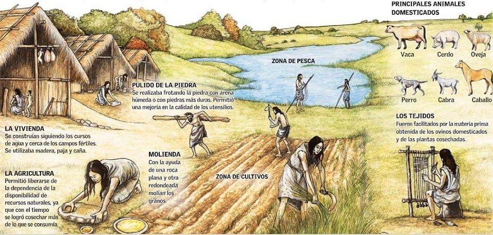 Aldea Primitiva Neolitico Historia De La Agricultura Prehistoria