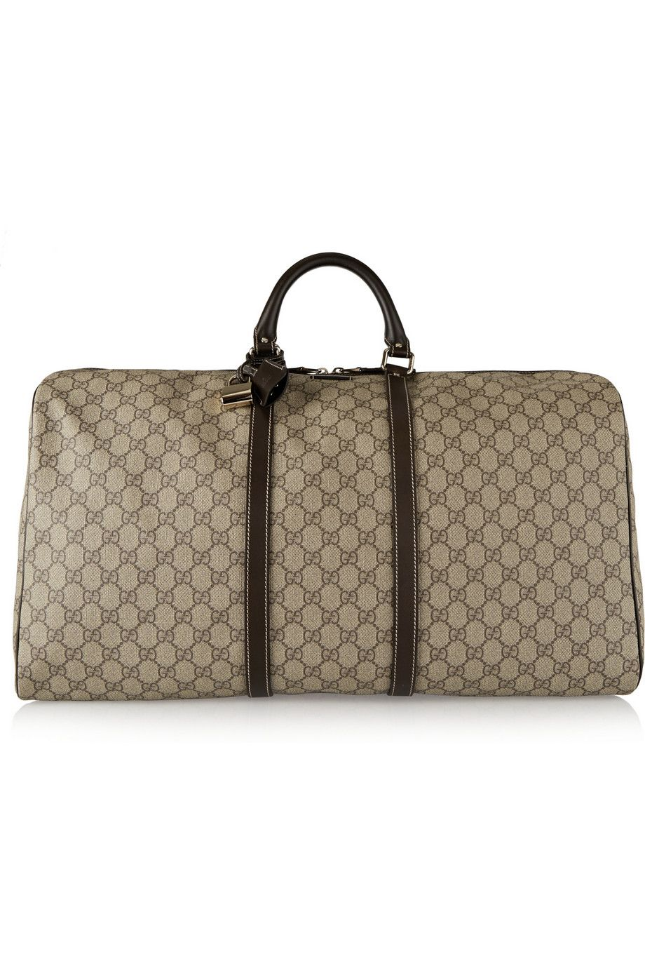 89c277c431c0 Gucci   Joy large leather-trimmed coated canvas weekend bag    NET-A-PORTER.COM