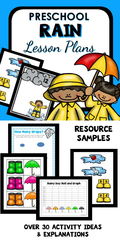 Rain Theme Preschool Classroom Lesson Plans