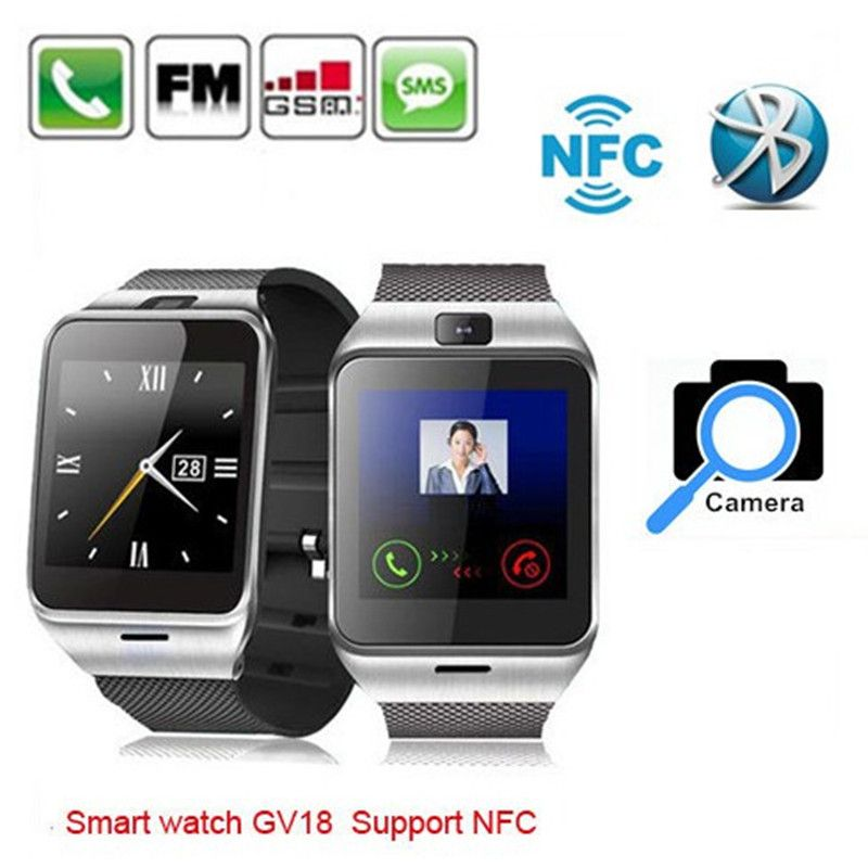 Smart bluetooth watch with NFC camera wristWatch SIM card Smartwatch for iPhone6 Samsung Android Phone watch