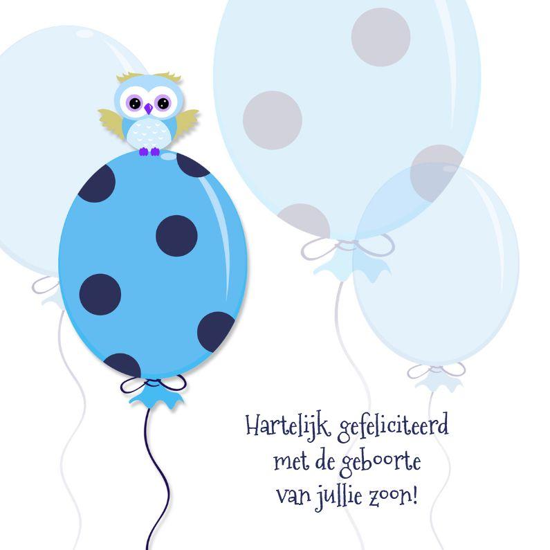 Citaten Geboorte Zoon : Geboorte vieren blauwe ballon