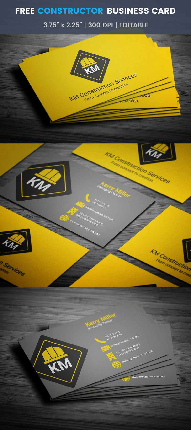Free Renovation Business Card   Business cards, Business and Card ...