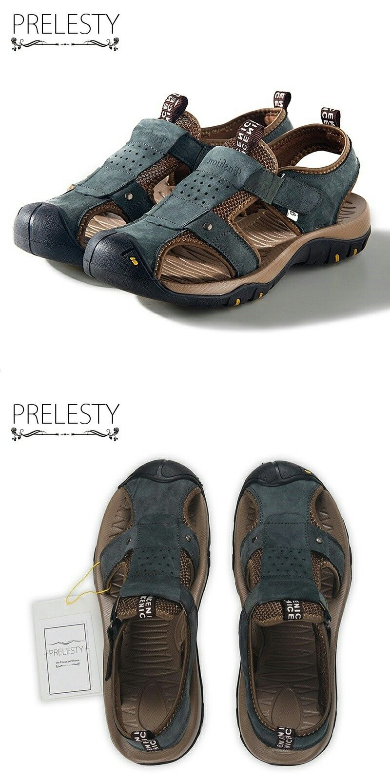 Open Toe Slippers Breathable Non-Slip Rivet Reinforcement Beach Leisure Shoes Leather Lightweight Wear Resistant Slippers HHF Flat Sandals /& Slippers Mens Fashion Casual Sandals