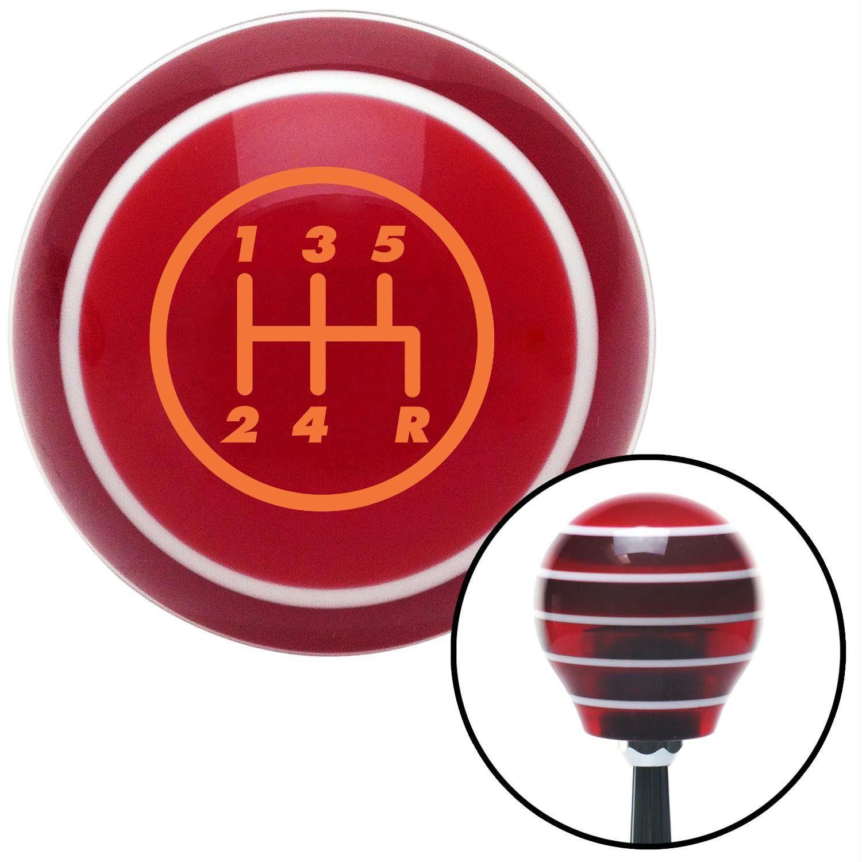 Orange 5 Speed Shift Pattern 5RDR Red Stripe Shift Knob with M16 x 15 Insert