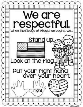 We Are Respectful Code Of Conduct For Pledge Of Allegiance
