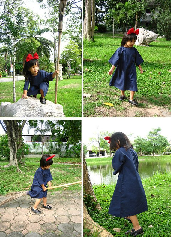 728cc7d34 Kiki's delivery service cosplay Kid dress with red Hair band 4T size ( 2 -  4 years old) | Holiday: Halloween | Kiki's delivery service cosplay, ...