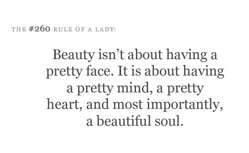 Rules of being a lady..