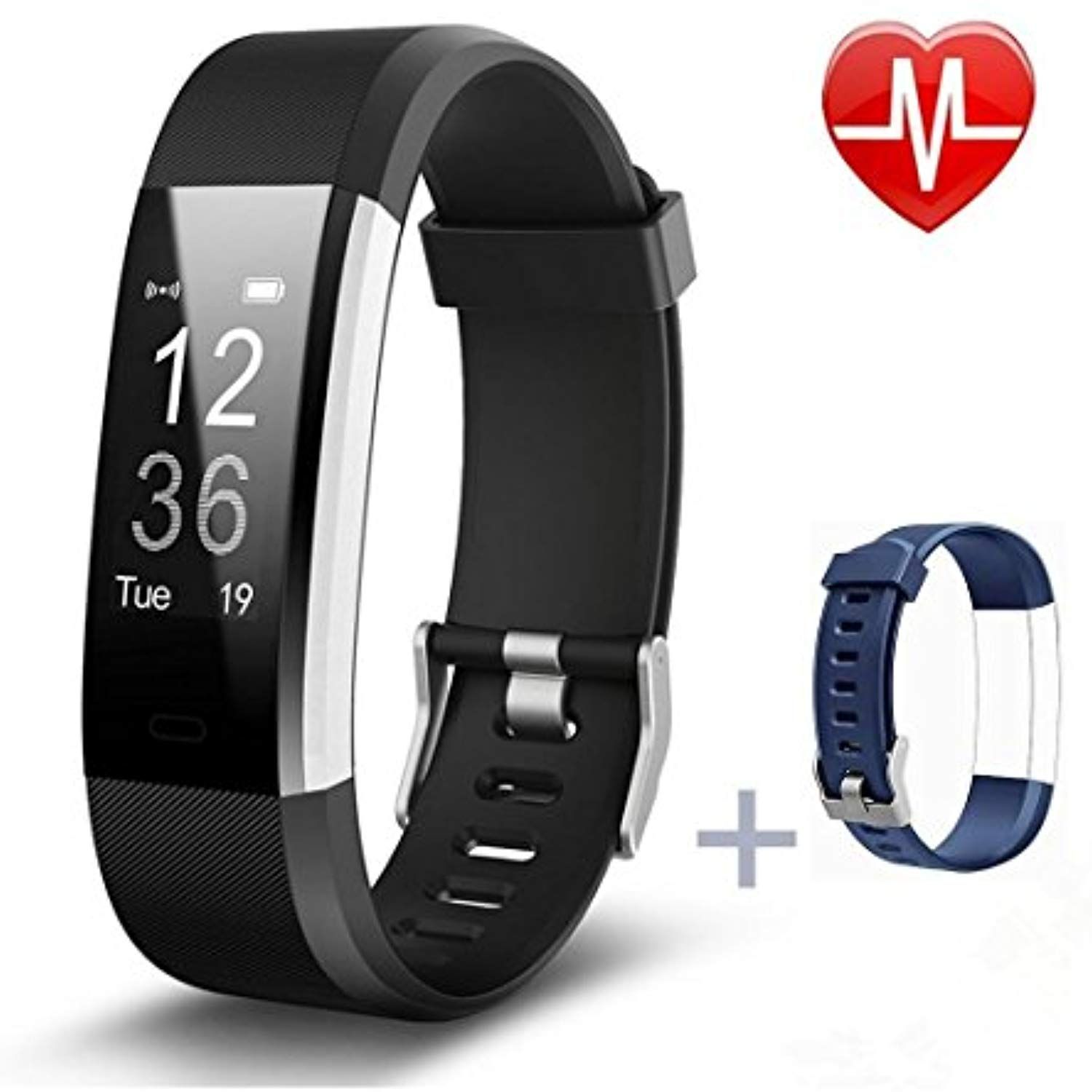 Vistatroy Usb Recharge Fitness Tracker Remote Camera Control Watch