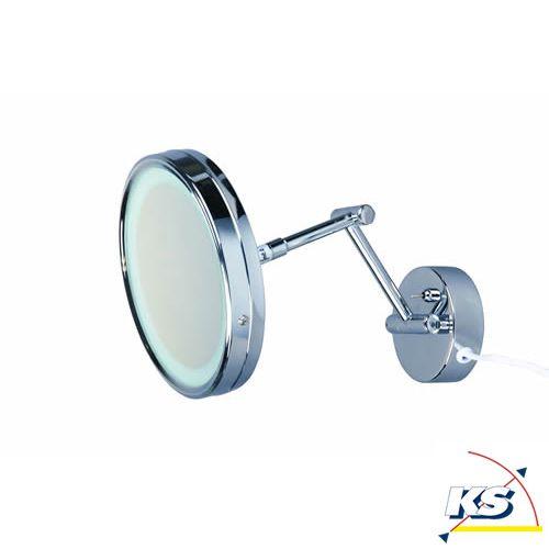 Ks Licht kosmetikspiegel aquatic mit beleuchtung rund schwenkbar ausziehbar