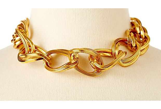 Large Gold Link Necklace on OneKingsLane.com
